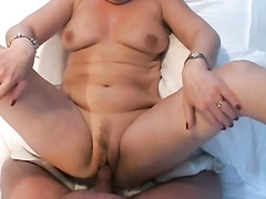 Chubby wife fucked and creampied